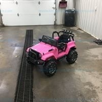 Costzon Ride On Truck, 12V Battery Powered Electric Ride On Car w/ 2.4 GHZ Bluetooth Parental Remote Control, pink
