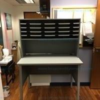 Marvel 20 slot mailroom organizer slate gray Model # UTIL0075/AT