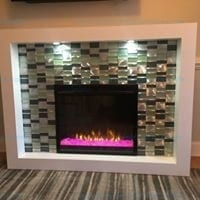 Crystal Mantel Electric Fireplace White By Dimplex Model # GDS28-G8-1944W