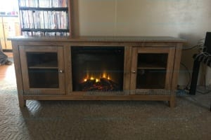 """Wasatch 58"""" Highboy Fireplace TV Stand by Walker Edison in Driftwood Model#W58FP18HBAG"""