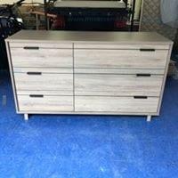 Flynn 6 Drawer Double Dresser in Rustic Oak by South Shores Model # 11922