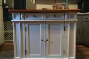 Americana Kitchen Island White and Distressed Oak Finish Model  # 5002-94