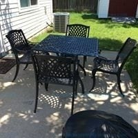 Marietta Outdoor Dining Set Table & Chairs 5 Piece Model # 239068