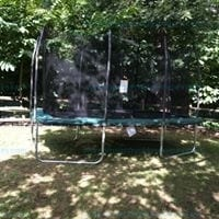 Skywalker 14 ft Rectangular Trampoline Wit Enclosure Green # STRC1400