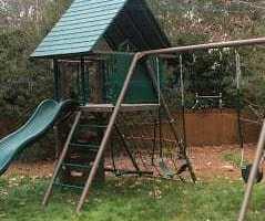 Lifetime Big Stuff Swingset Earthtone Model # 90042
