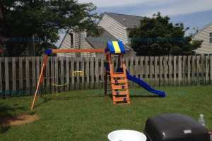 Backyard Discovery Dayton Wooden Swing Set